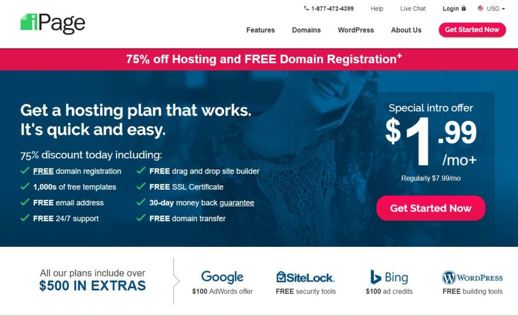 Ipage Web Hosting Service